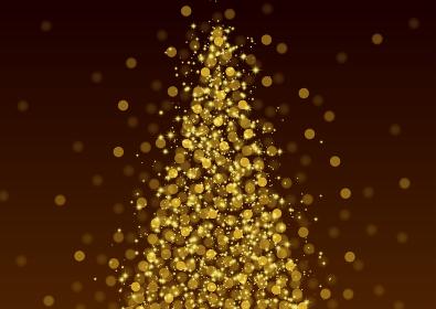 キラキラ金色に輝くクリスマスツリー