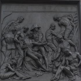 トラファルガー広場の石の彫刻