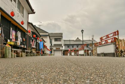 山鹿温泉の街並み