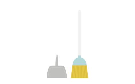 清掃道具 ほうきとちりとり