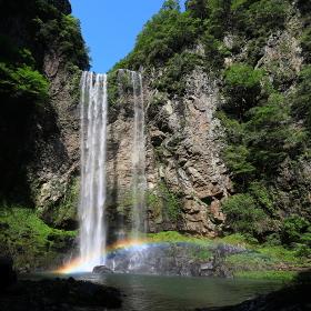 福貴野の滝と虹