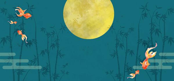 竹:竹 和風 和柄 背景 七夕 植物 水彩 手描き 金魚 観賞魚 アクアリウム
