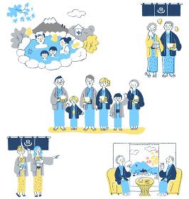 温泉イメージシーン セット