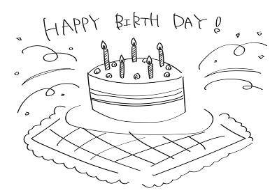 ラフな誕生日ケーキ