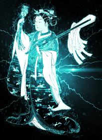 浮世絵 巫女 その1 サイバーバージョン その2