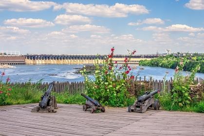 National Reserve Khortytsia museum in Zaporozhye, Ukraine