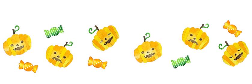 ほんわか水彩ハロウィンのかぼちゃ