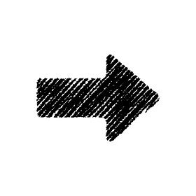 チョークで描いたような図形/アイコン(矢印)