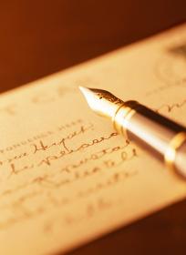 万年筆とポストカード