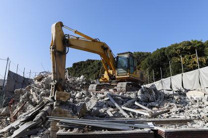 建築物解体現場 工事現場