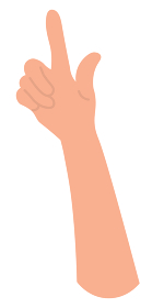 上向きの手 カラー 爪なし