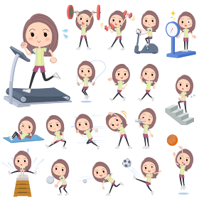 Long hair woman Sports & exercise