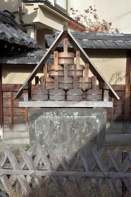 京都島原 大門脇の消火井戸 京都市