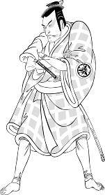 浮世絵 歌舞伎役者 その26 白黒
