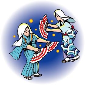 壬生川の盆踊り