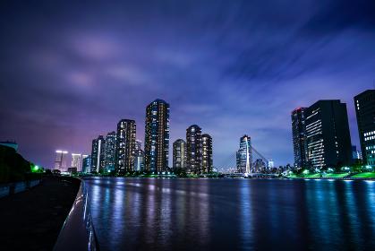 永代橋からの夜景