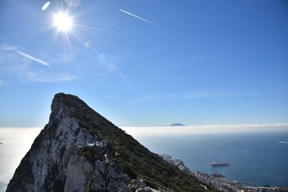 ジブラルタル、地中海、ザ・ロック