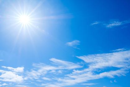 青空 空 雲 初夏の空 背景 背景素材 6月 コピースペース
