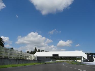晴天のサーキットコース