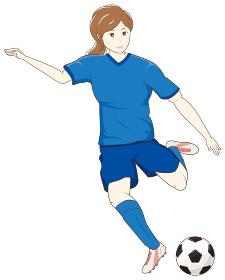 サッカーをする女性01
