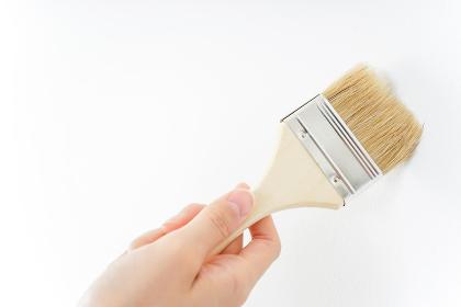 DIY・ペンキを塗る女性