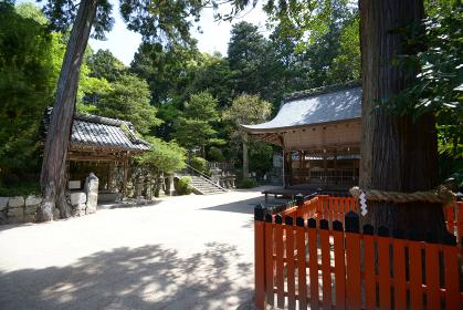 鷺森神社 境内 京都市