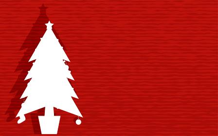 クリスマスツリーの切り絵の背景素材