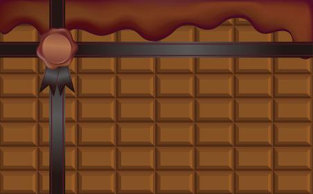 バレンタインデー フレーム チョコレート ギフト コピースペース 背景 イラスト素材