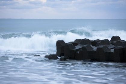 明け方の海岸