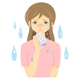 涙を流す女性・悲しみ・涙活