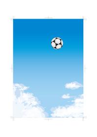 青空とサッカーボール