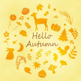 秋のシルエット イラスト素材集