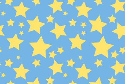 星のシームレスの背景イラスト