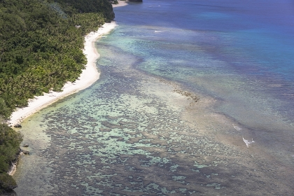 グアム 恋人岬の海