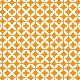 花七宝模様 オレンジ 3