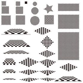 イラスト素材 パターン 白黒 タイル素材 イラスト