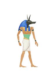 エジプト 神 アヌビス 水彩 イラスト