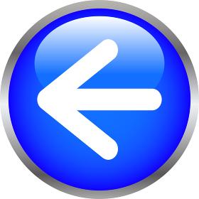 カラフル3Dナビゲーションボタン 矢印 方向指示 さし示す 左