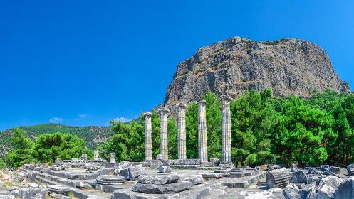 Ruins of the Ancient Temple in Priene, Turkey, Turkey, Ayd?n, Priene