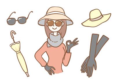 女性の日焼け対策グッズセット