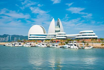 中国 珠海市のオペラハウス