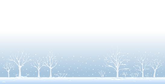 雪の積もった木々の風景 冬の景色