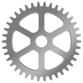 ギア・歯車のリアル風ベクターイラスト