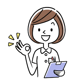 ベクターイラスト素材:オッケーサインを出す若い女性看護師