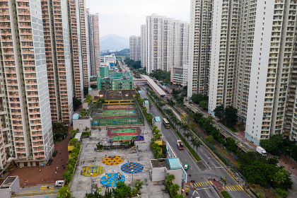 Tin Shui Wai, Hong Kong 08 September 2018:-Hong Kong residential district