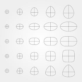 図形 円・楕円 01