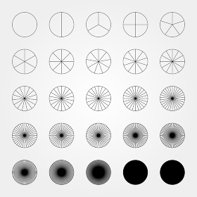 図形 円分割 01