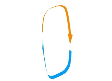 縦に回転するループの矢印素材