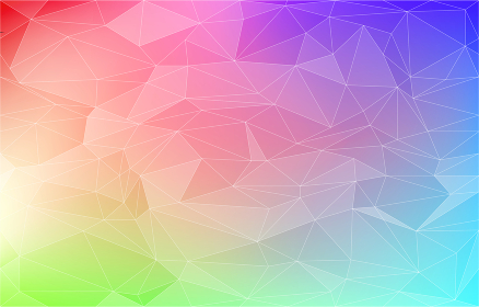 背景素材、ポリゴン風の虹色グラデーション