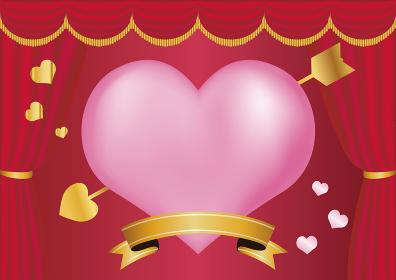 バレンタイン ギフト ハート かわいい おしゃれ 背景 イラスト素材